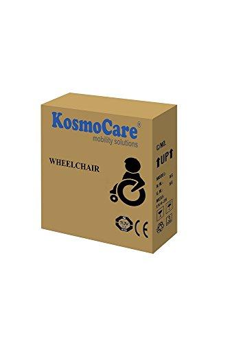 KosmoCare Stylex Ultra Lightweight Transporter Wheelchair with Seat Belt