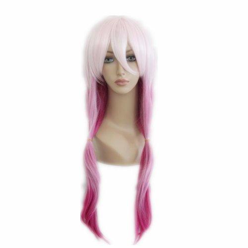 COSPLAZA Cosplay Wigs Kostueme Peruecke Guilty Crown Yuzuriha Inori Pink lang gewellt 70cm Party Party Haar