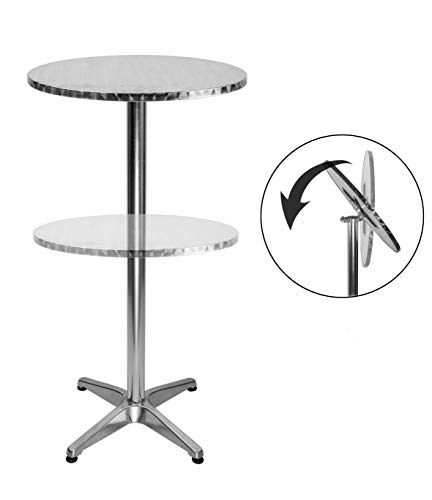 Mesa redonda de LXDUR para bar con 2 alturas ajustables
