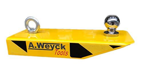 A. Weyck Tools Gabelstapler Rangierhilfe mit Kugelkopf Radlader Stapler für Anhänger Wohnwagen