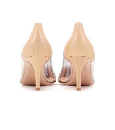... Stiletto Talon Soirée Femme Transparent À Aiguille Taille Enfiler Edefs  Escarpins Nude Chaussure Sandales pBqwxR ... a6a94d0a0abc