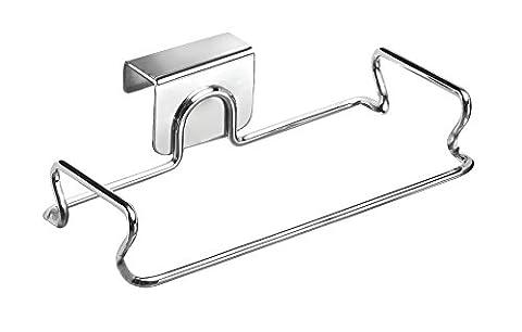 InterDesign Classico Over Cabinet Bag Holder, Chrome