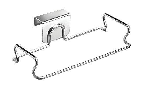 InterDesign Classico Taschenhalter, kleine Türhalterung aus Metall, silberfarben (Mülleimer-beutel-halter)