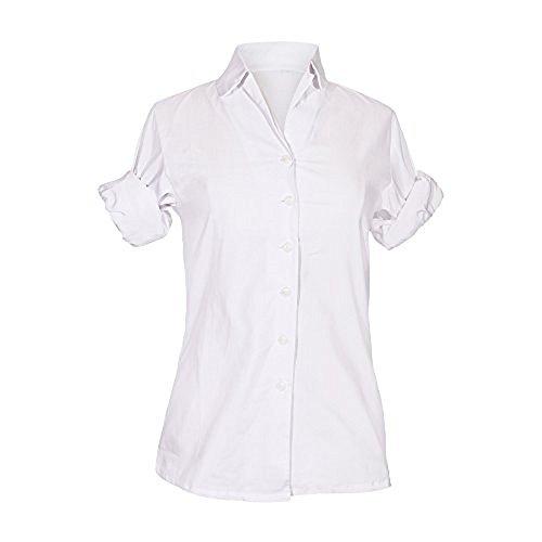 Bluse, Audrey Hepburn Roman Holiday inspiriert, Vintage, 100% Baumwolle, weiß (S, ohne Geschenk-Box)