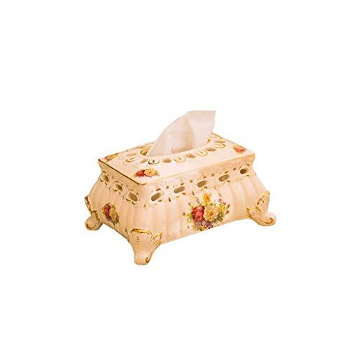 Tissue Box Cover Keramik Tissue Box Serviette Tissue Box, Schlafzimmer Home Storage Box Taschentuchhalter (Size : 20cm×15cm×11.5cm) (Keramik Tissue Box Cover)
