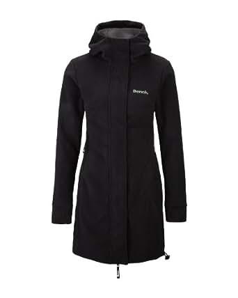 Bench Damen Jacke Fleecemantel Gebondet Fleece Hood schwarz (black) X-Large