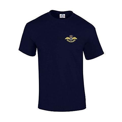 Blue Rock Fleet Air Arm Heavyweight Embroidered T-Shirt Navy L