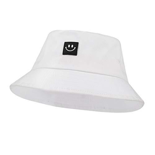 Imagen de sombrero del pescador algodón plegable bucket hat al aire libre visera para senderismo camping y playa 56 58 cm blanco