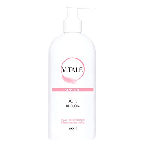 Body oil shower with sweet almond oil, Vitamin A, E and Macadamia ideal for sensitive skin with action Antioxidant that softens and nourishes your skin. Vitale 250ml
