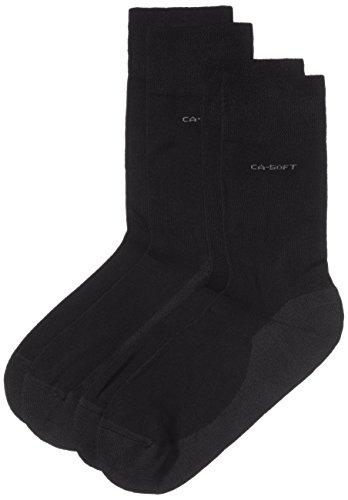 Camano Unisex - Erwachsene Socke 2-er Pack,  3652, Gr. 43-46, Blau (04 navy) - Blaue Vinyl-polsterung