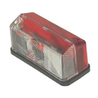 , rot/weiß, outline marker Lampe für Anhänger (e) genehmigt Pt Nr. LMX983