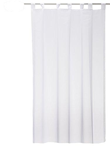 Haus und Deko Voile Schlaufengardine Gardine Emotion weiß Organza Vorhang transparent beschwerter Abschluß 140x145 cm