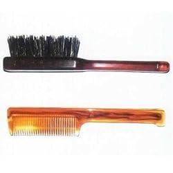 set pettine spazzola e baffi