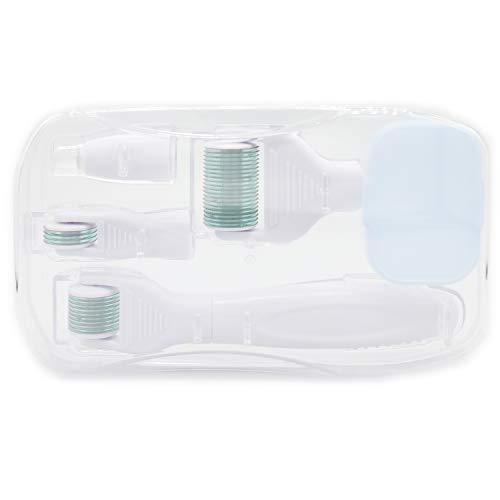 Dermaroller 5 in 1 Set BOWKA Derma Roller 1,5/0,5/0,3/0,25mm für Gesichtspflege mit Micro-Needling, aus Edelstahl Micronadeln für Anti Falten, Schwangerschaftsstreifen, Haarausfall und Anti Falten