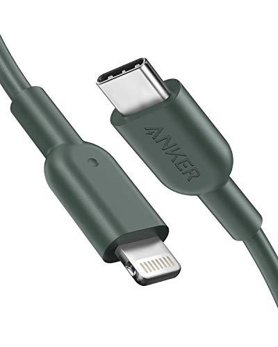 Anker Powerline II USB-C auf Lightning-Kabel, 180 cm lang, Apple MFi-Zertifiziert, für iPhone X/XS/XR/XS Max / 8/8 Plus, für Typ-C Ladegeräte, Unterstützt Power Delivery (180cm, Grün)