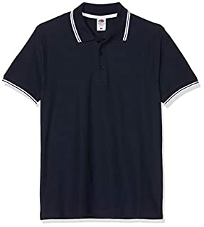 Fruit of the Loom - SS034 - Polo - Homme - Blanc (Deep Navy/White) - Taille: 3XL (B00BGVI6J4) | Amazon Products