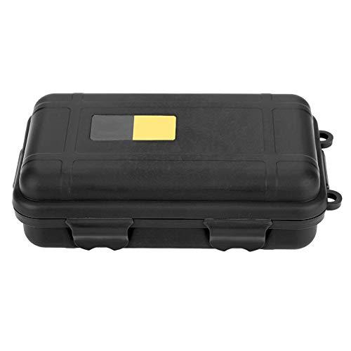 Kunststoff-Aufbewahrungsbox im Freien, wasserdichter Überlebensfall, Survival Box Container Storage Box Case (Schwarz groß)