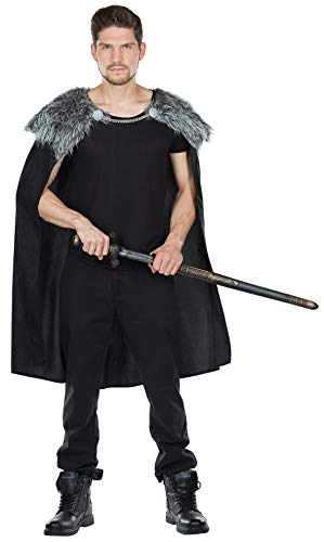 Rubie's Wolfskrieger Cape Herren Kostüm Umhang Krieger Wikinger Karneval Fasching