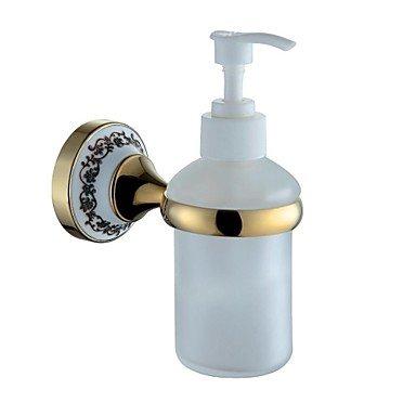 chrome et laiton doré fixé au mur distributeur de savon