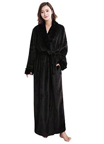 Womens Luxury Soft Fleece Bathrobe Dressing Gown Belted Bath Robe Housecoat Full Length - 319oahR 2BwKL - Womens Luxury Soft Fleece Bathrobe Dressing Gown Belted Bath Robe Housecoat Full Length
