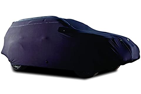 TPH Microlite Smooth Samt Finished Individuelle Passform semi-outdoor schwarz Auto Cover mit weißer Paspel für Toyota Matrix