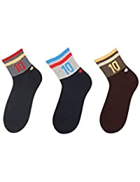 Klair Men's Ankle Length Socks(Pack of 3)(Multi)