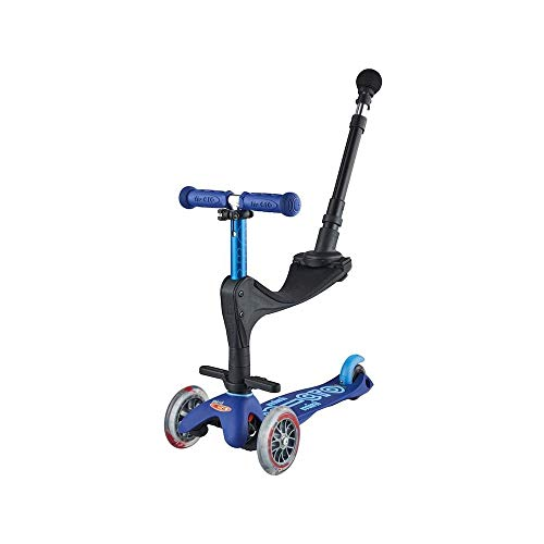Micro Mobility Mini Micro 3in1 Deluxe Plus Monopatín Hockey y Patinaje sobre Ruedas Infantil, Juventud Unisex, Azul, Talla única