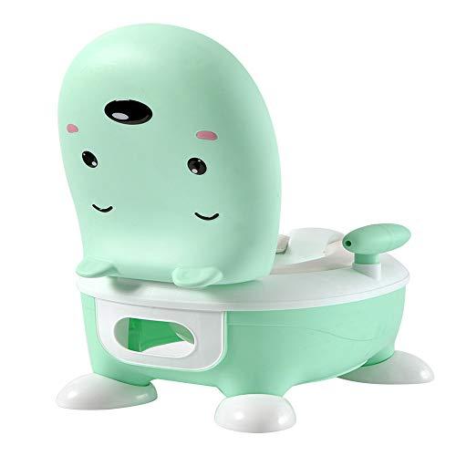 LINGGE Vasino per Bambini Squatty Potty Training Portable Vasino per Bambini Toilette Bambino Ragazza Bambino Portatile Anello per WC Cartone Animato in plastica