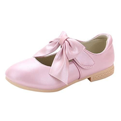 Kaister Baby Mädchen Prinzessin Bowknot Rutschfest Weiche Sohle Krabbelschuhe Rosa Leather Bowknot Single Princess Shoes Sandals (Rosa Stiefel Mädchen Cowgirl)