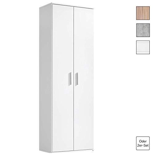 mokebo® Mehrzweckschrank \'Der Lange\', moderner Aktenschrank oder Schrank, Made in Germany & klimaneutraler Versand, Weiß -11
