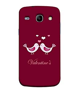 Fuson Designer Back Case Cover for Samsung Galaxy Core 2 G355H :: Samsung Galaxy Core Ii :: Samsung Galaxy Core 2 Dual (Hearts Valentine Coffee Red Love )
