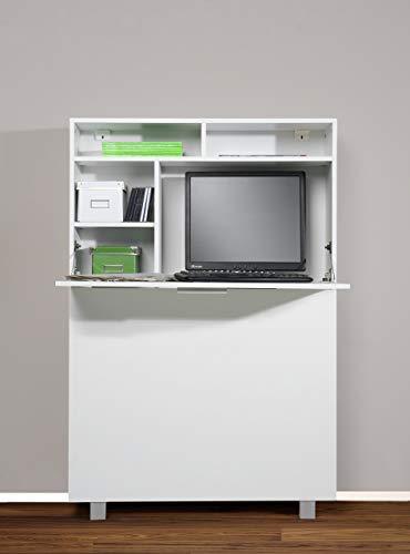 Möbeldesign Team 2000 GmbH 1195-1 Moderner Wandsekretär od. PC-Schrank (weiß)