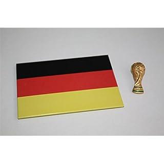 WM Pokal Weltpokal als 3D Pin / Anstecker OVP Lizenzware + DEUTSCHLAND MAGNET