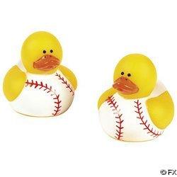 Fun Express Baseball Rubber Duck Party Favors Set (24 Piece) (Baseball Express)