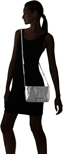 Guess Damen Lady Luxe Crossbody Schultertasche, Taglia Unica Argento (Silver)