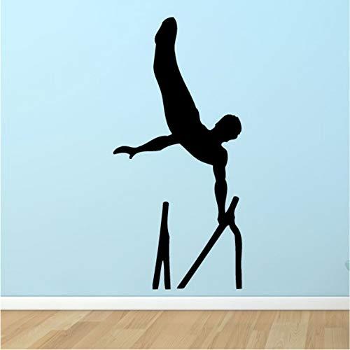 Wandaufkleber Gymnastik Barren Wandaufkleber Sport Dekoration Für Schlafzimmer Kunstwand Innen Vinylkleber Decor 14X30 Cm (Gymnastik-kuchen-dekorationen)