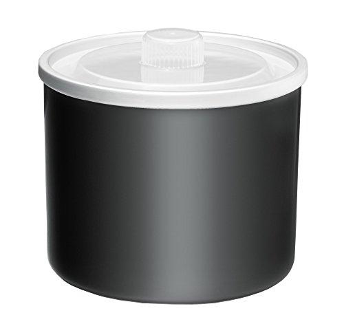 ROMMELSBACHER IB 05 Gefrierbehälter für IM 12 Eismaschine Kurt / praktischer Zweitbehälter mit abnehmbarem Deckel / 1.5 L / schwarz