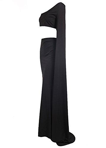Missord - Robe - Cocktail - Manches Longues - Femme Noir