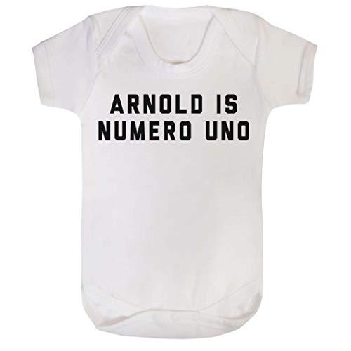 (Cloud City 7 Arnold Schwarzenegger Arnold is Numero UNO Baby Grow Short Sleeve)