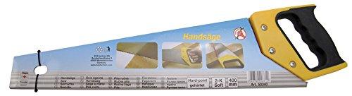 Kraftmann 50340 Scie à main avec poignée bi composant, Argent/jaune/noir, 400 mm