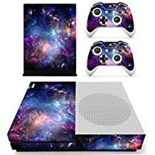 eseeking ganzen Körper Vinyl Haut Aufkleber Aufkleber Cover für Microsoft Xbox One Slim Konsole Colorful Nebular (Xbox 360 Slim-hülle)