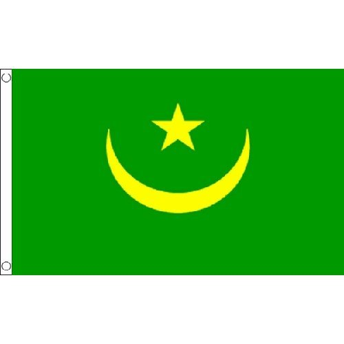 Mauritania Flag 5Ft X 3Ft Africa African Country Banner With 2 Eyelets New by Mauritania -