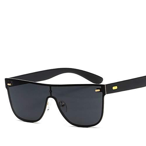 Easy Go Shopping Siamesische Sonnenbrille Polarisiertes Licht PC Metal Sunscreen UV400 Full Frame Sonnenbrillen und Flacher Spiegel (Color : Gold+All Gray)