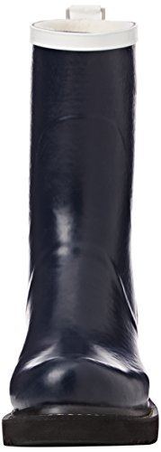Ilse Jacobsen - Damen Gummistiefel Neoprene Kontrastfarben, Rub36cc, Stivali foderati a mezza gamba, contro il freddo Donna Blu (Blau (Dunkelindigo (660)))