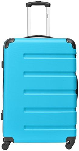 Packenger 3er Koffer-Set Marina Trolley-Set Hartschale (M, L & XL) in Blau/4 Gummi Rollen (360°)/Koffer mit Zahlenschloss/stabiler eleganter Alltags Rollkoffer & Reisekoffer/Material: ABS/Farbauswahl - 3