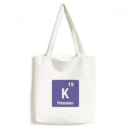 DIYthinker K Kalium Chemical Element Chem Environmentally-Tasche Einkaufstasche Kunst Waschbar 33cm x 40 cm (13 Zoll x 16 Zoll) Mehrfarbig