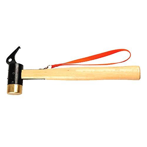 QNMM Multifunktionale Klauenhammer Anti-Vibration Griff und Drop geschmiedete Stahlkopf grundlegende Handwerkzeug für Camping DIY,C