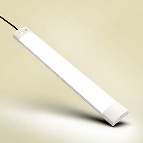 Tonffi Flache LED Feuchtraumleuchte Deckenleuchte fürs Bad oder Feuchte Industrieräume   Wannenleuchte Feuchtraumlampe Werkstattlampe Industrieleuchte   Wasserdicht IP65 18W 60CM [Energieklasse A+] - 18w Led Leuchte