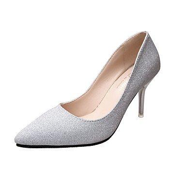Zormey Printemps Été Automne Talons Chaussures Confort Club Bureau Pu &Amp; Robe Carrière Talon Occasionnels Rhinestone Metallic Toe Walking US8 / EU39 / UK6 / CN39