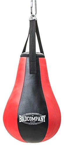 Bad Company Boxbirne gefüllt I Vinyl Punching-Ball Maisbirne hängend inkl. Nylon-Aufhängung zur Deckenbefestigung I Rot